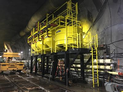 Water treatment system for a tunnel in New York