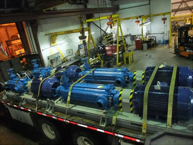 Preparation and installation of four multistages Technojet pumps
