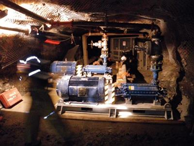 Installation of two multistages Technojets pumps underground