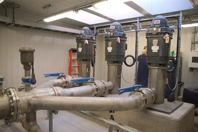 Installation of 8 vertical turbine pumps Technojet VT