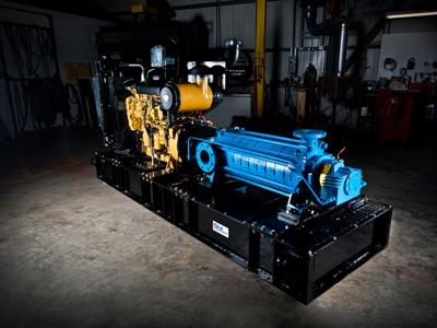 Technojet multistage pump with a diesel engine
