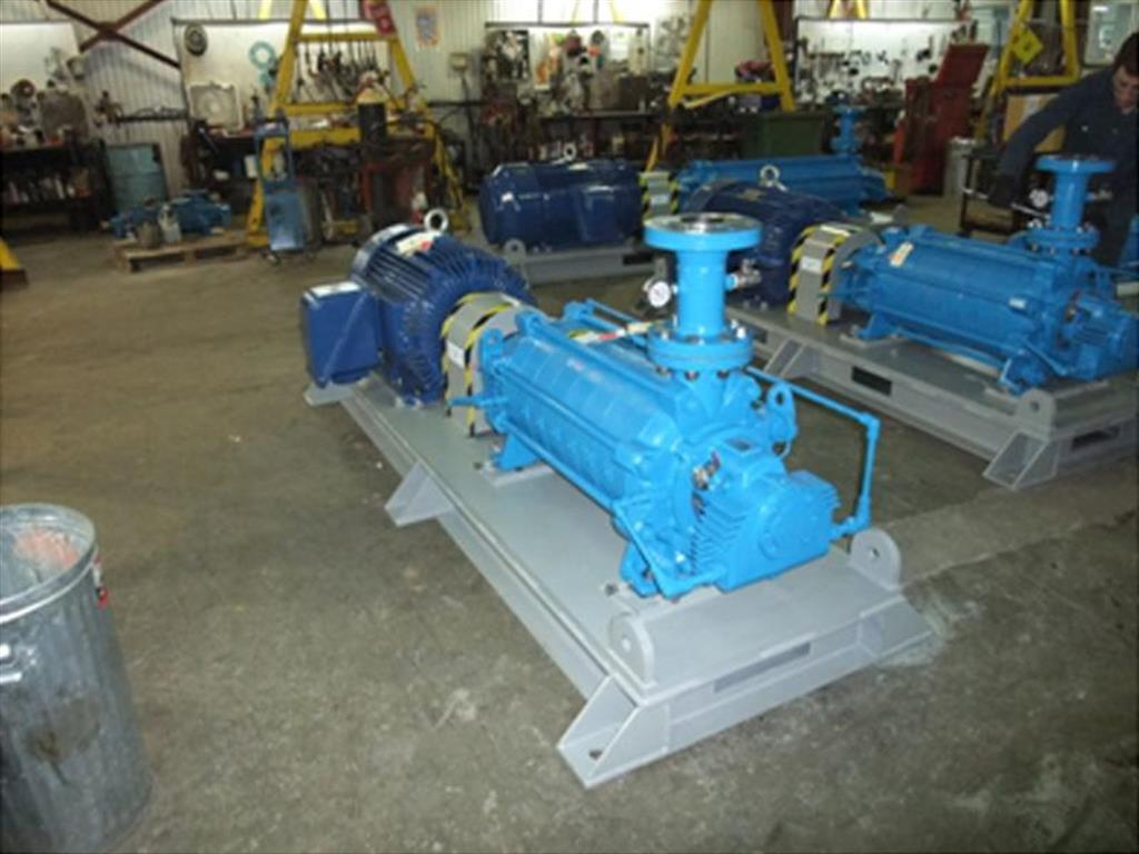 Installation of a multistage Technojet pump