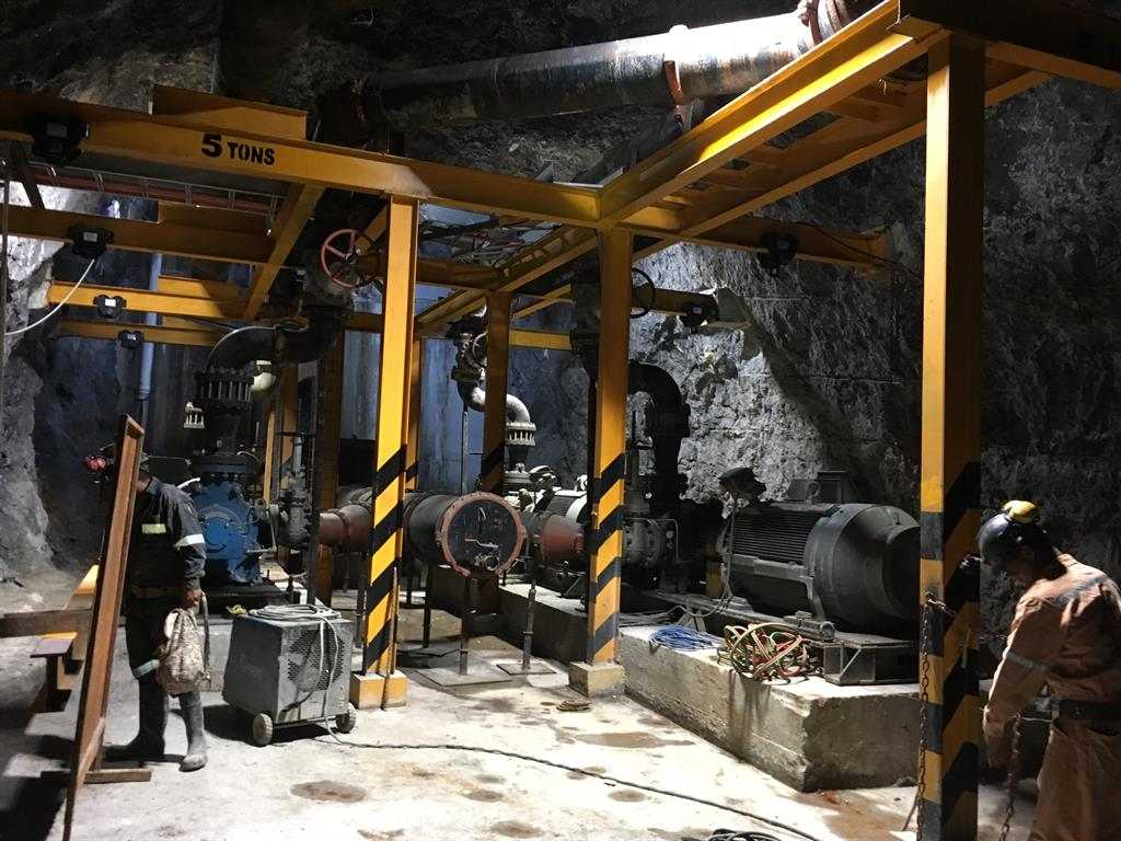 Mine Dewatering With 21 Pumps